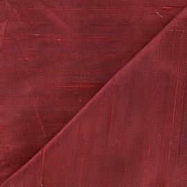 Wild Silk Fabric - burgundy x 10cm