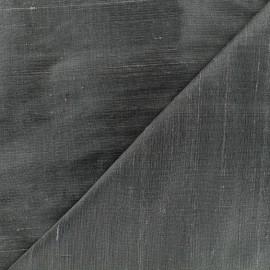 Tissu soie sauvage - graphite x 10cm