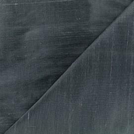 Wild Silk Fabric - prussian blue x 10cm
