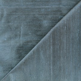 Wild Silk Fabric - petrol x 10cm
