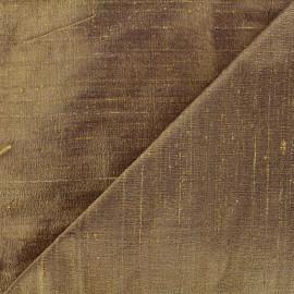 Tissu soie sauvage - mordoré x 10cm