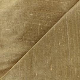 Tissu soie sauvage - or clair x 10cm