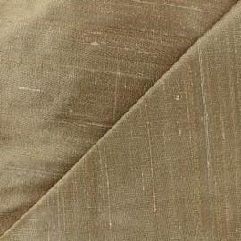 Tissu soie sauvage - viel or x 10cm