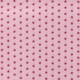 Tissu enduit coton Froufrou étoiles - pétale de rose x 10cm