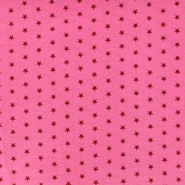 Coated cotton fabric Froufrou stars - pommette x 10cm