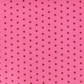 Tissu enduit coton Froufrou étoiles - pommette x 10cm