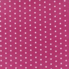 Tissu enduit coton Froufrou étoiles - camélia x 10cm