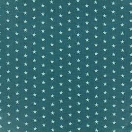 Coated cotton fabric Froufrou stars - bora bora x 10cm