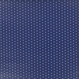Tissu enduit coton Froufrou pois - bleu intense x 10cm