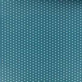 Coated cotton fabric Froufrou dot - bora bora x 10cm