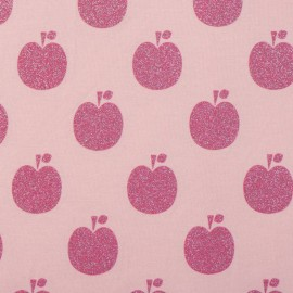 Poppy jersey fabric Glitter Apple - rose x 10cm