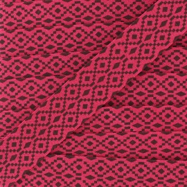 Bias Aztec 20 mm - fuchsia x 1m