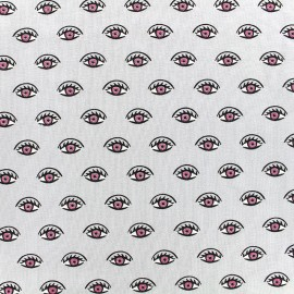 Poppy jersey fabric Shining eyes - grey x 10cm