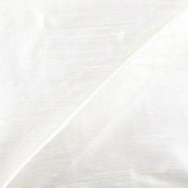 Tissu soie sauvage - blanc cassé x 10cm
