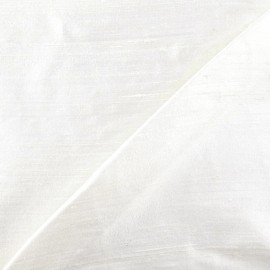 Wild Silk Fabric - off-white x 10cm