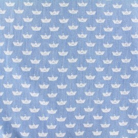 Tissu Jeans chambray Origami - blanc x 10cm