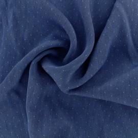 Tissu viscose Denim dot - bleu foncé x 10cm