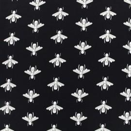 Tissu crêpe Bee - noir x 12cm