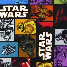 Tissu jersey Star wars comics - noir x 33cm