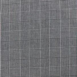 Tissu tailleur mini Pied de Poule - gris x 10cm