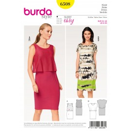 Dress with Extra Top Burda Sewing Pattern N°6508
