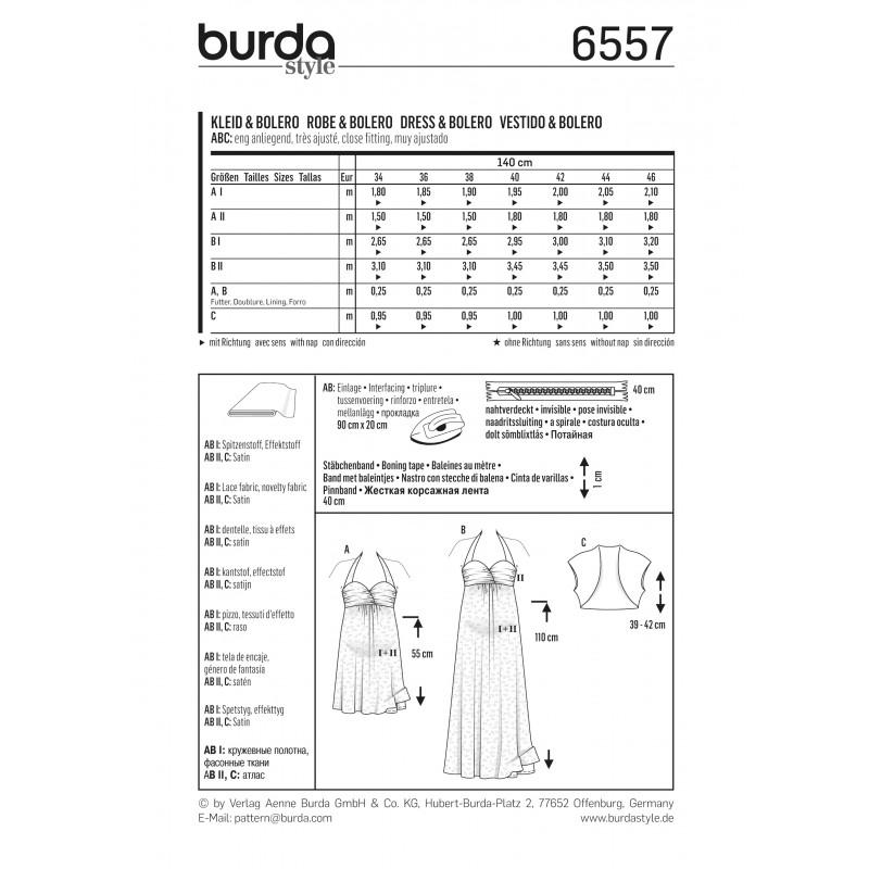 Patron Burda 2017 : Patron Robe de grossesse robe de mariée dos nu ...