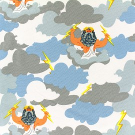 Jersey fabric Zeus - blue x 19cm