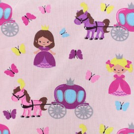 Jersey fabric Cinderella - pink x 19cm