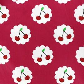 Tissu coton Cherry - framboise x 10cm