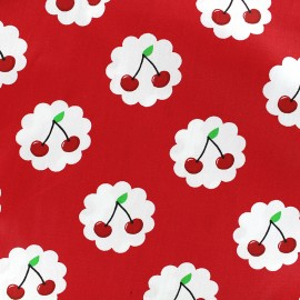 Cotton fabric Cherry - red x 10cm