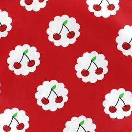 Tissu coton Cherry - rouge x 10cm