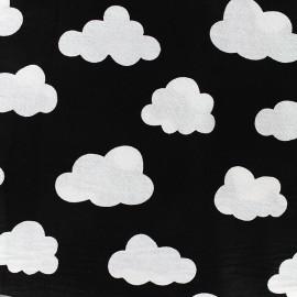 Tissu coton Graphic black - cloud x 10cm