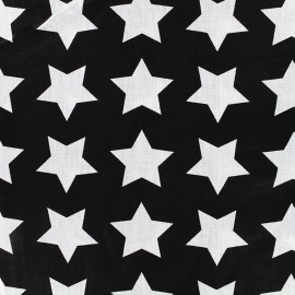 Tissu coton Graphic black - star x 10cm