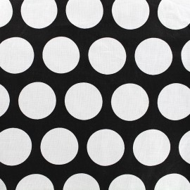 Cotton fabric Graphic black - circle x 10cm