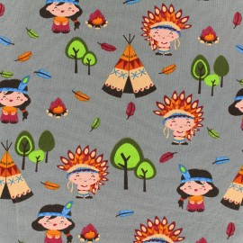 Jersey fabric Little Indian - grey x 18cm