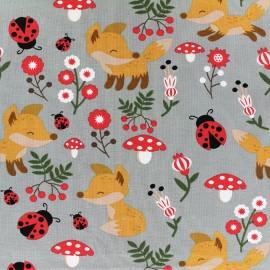 Jersey fabric Sweet Fox - grey x 19cm
