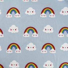Tissu déperlant nano-tex Sweet Cloud - bleu gris x 10cm