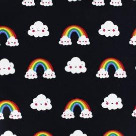 Tissu déperlant nano-tex Sweet Cloud - noir x 10cm