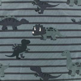Jersey fabric Sweet Dino - bleu x 19cm