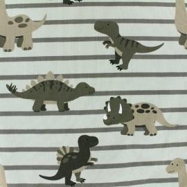 Jersey fabric Sweet Dino - kaki x 19cm