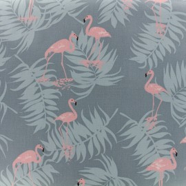 Coated cotton fabric Daily Like - Charming flamingo x 10cm
