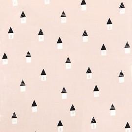 Tissu enduit coton Daily Like - House x 10cm