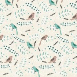 Tissu enduit coton Daily Like - Tweet x 10cm