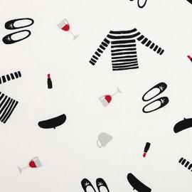 Tissu toile coton Daily Like - Paris x 10cm