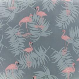 Tissu toile coton Daily Like - Flamingo x 10cm