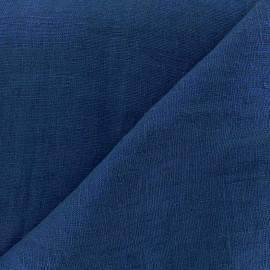Tissu lin lavé Thevenon - bleu pétrole x 10cm