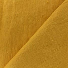 Tissu lin lavé Thevenon - jaune ananas x 10cm
