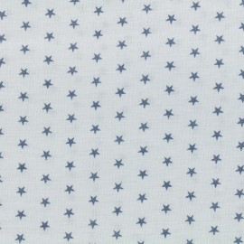 Coated cotton fabric Froufrou stars - celeste x 10cm
