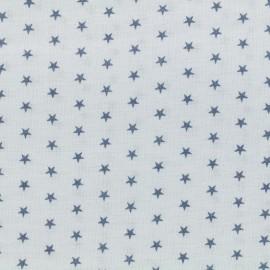 Tissu enduit coton Froufrou étoiles - céleste x 10cm