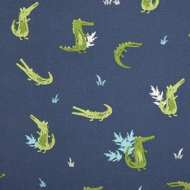 Tissu toile coton Daily Like - Crocodile x 20cm